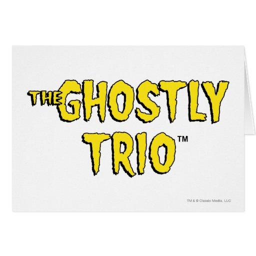 El logotipo fantasmal del trío tarjeton