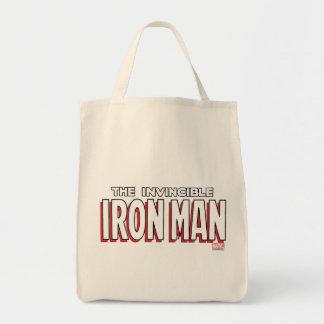 El logotipo invencible del hombre del hierro bolsa tela para la compra