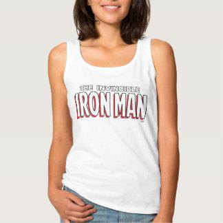 El logotipo invencible del hombre del hierro playera con tirantes