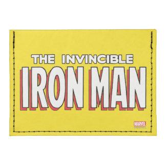 El logotipo invencible del hombre del hierro tarjeteros tyvek®