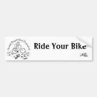 el logotipo, logotipo del abr, monta su bici pegatina para auto