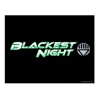 El logotipo más negro 2 de la noche tarjeta postal