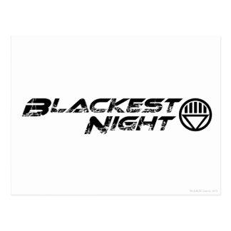 El logotipo más negro de la noche tarjetas postales