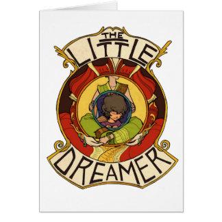 El logotipo oficial del pequeño soñador con cita tarjeta de felicitación