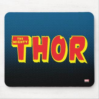 El logotipo poderoso del Thor Alfombrilla De Raton