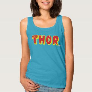 El logotipo poderoso del Thor Playera Con Tirantes