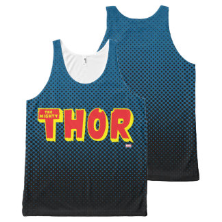 El logotipo poderoso del Thor Playera De Tirantes Con Estampado Integral