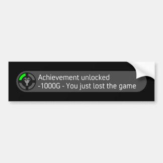 El logro abrió - usted acaba de perder a The Game Pegatina De Parachoque