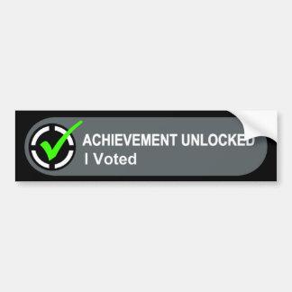 El logro me abrió votó pegatina para auto