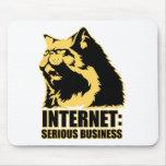 el lolcat el Internet es negocio serio Tapete De Ratones