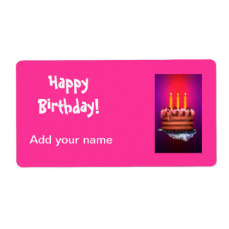 El Lollipop del cumpleaños marca etiquetas de la e Etiquetas De Envío