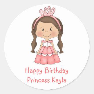 El lollipop personalizado de la princesa etiqueta