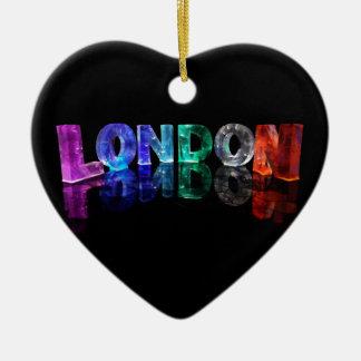 El Londres conocido en 3D se enciende (la Adorno Navideño De Cerámica En Forma De Corazón