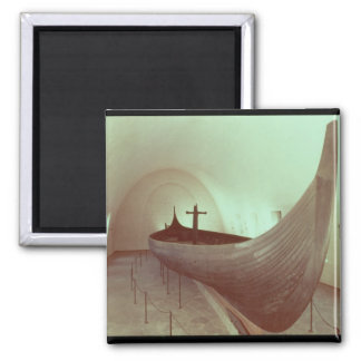 El longship de Gokstad (madera) Imán Cuadrado