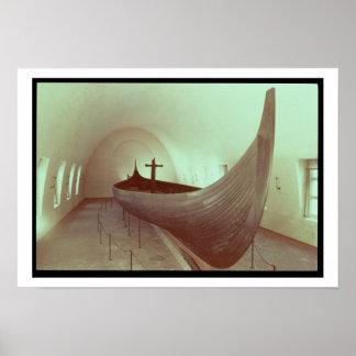 El longship de Gokstad (madera) Posters