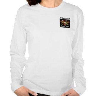 El longT de la mujer de la calidad con el nombre, Camisetas