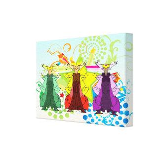 El Los Tres Reyes Magos/tres hombres sabios envolv Impresion En Lona