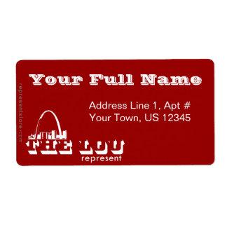 El Lou St. Louis representa Etiquetas De Envío