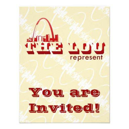El Lou St. Louis representa Invitación