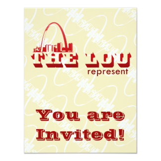 """El Lou St. Louis representa Invitación 4.25"""" X 5.5"""""""