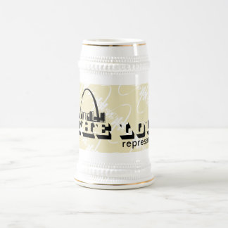 El Lou St. Louis representa Jarra De Cerveza