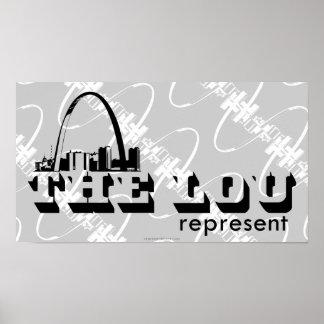 El Lou St. Louis representa Posters