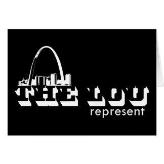 El Lou St. Louis representa Tarjeta De Felicitación