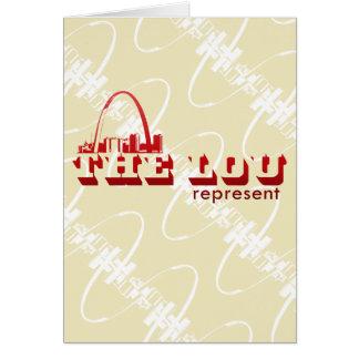 El Lou St. Louis representa Tarjeta Pequeña