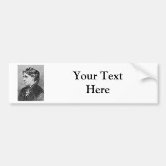 El ~ Louisa de Alcott puede escritor del novelista Etiqueta De Parachoque