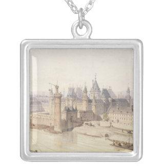 El Louvre durante el reinado de Charles V Colgante Cuadrado