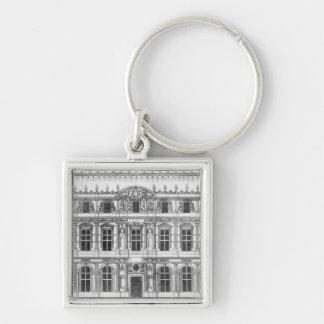 El Louvre Llavero Cuadrado Plateado