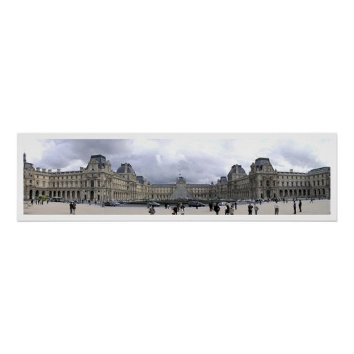 El Louvre panorámico Poster