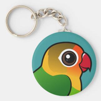 El Lovebird de Fischer Llavero Redondo Tipo Pin