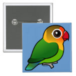 El Lovebird de Fischer Pin Cuadrada 5 Cm