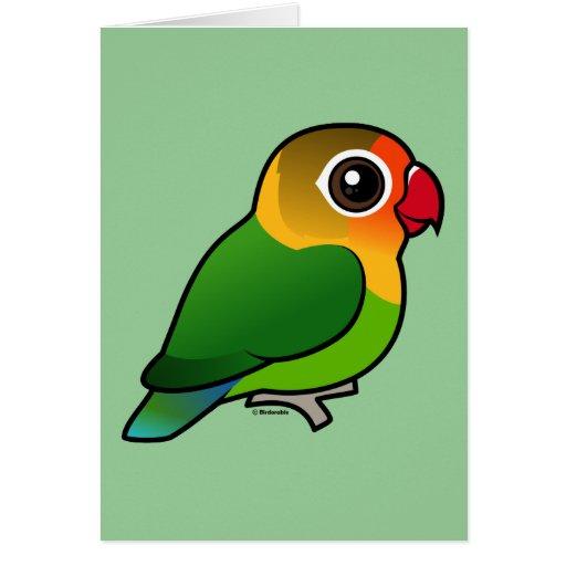 El Lovebird de Fischer Tarjeta Pequeña