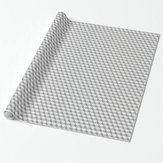 El Lt blanco gris sombreó los cubos de la mirada Papel De Regalo