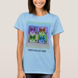el Lt de las mujeres. Camisetas - gato del arte