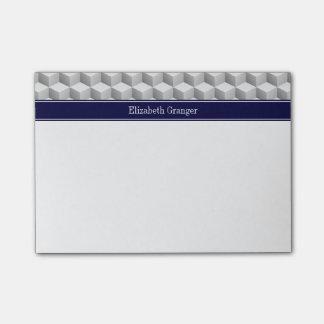 El Lt mirada blanca gris 3D cubica el monograma Notas Post-it®