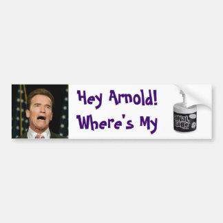 El lubricante anal de Arnold Pegatina De Parachoque