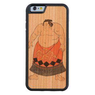 El luchador del sumo funda de iPhone 6 bumper cerezo