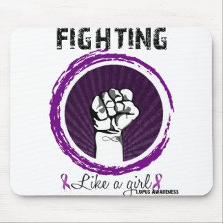 El luchar como un chica. Conciencia del lupus Alfombrilla De Ratones