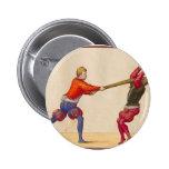 El luchar de los hombres del vintage pin