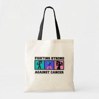 El luchar del cáncer de tiroides fuerte bolsas