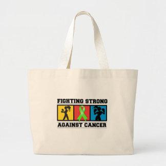 El luchar del cáncer del linfoma Non-Hodgkin fuert Bolsas Lienzo