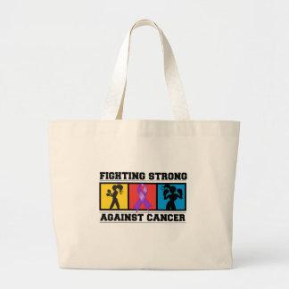 El luchar del cáncer pancreático fuerte bolsas lienzo