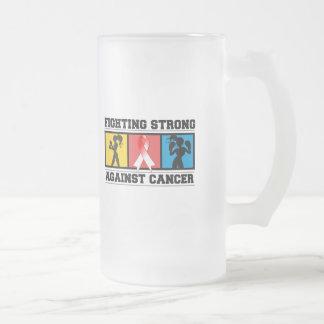 El luchar oral del cáncer fuerte tazas de café