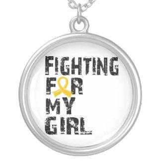 El luchar para mi cáncer 21 de la niñez del chica colgante personalizado
