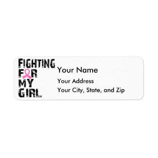 El luchar para mi cáncer de pecho del chica 21 etiqueta de remite