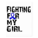 El luchar para mi chica Ankylosing Spondylitis 21 Tarjeta Postal