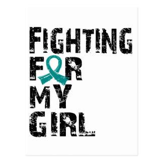 El luchar para mi chica PCOS 21 Tarjeta Postal